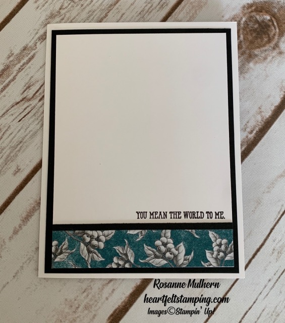 Stampin Up Botanical Prints Product Medley Thinking of You card ideas -Rosanne Mulhern stampinup