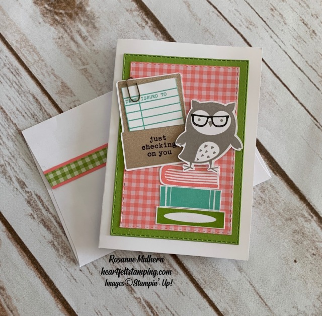 Stampin Up Check You Out Thinking of You Card -Rosanne Mulhern stampinup