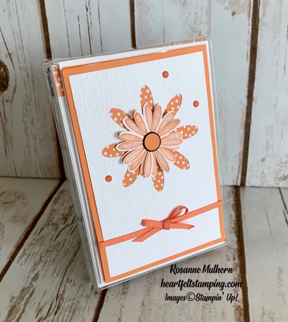Stampin Up Daisy In-Color Thank You Note-Rosanne Mulhern stampinup