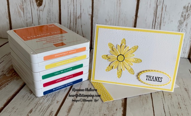 Stampin Up Daisy In-Color Thank You Notes -Rosanne Mulhern stampinup.jpg