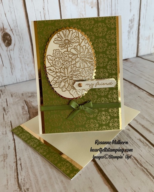 Stampin Up Ornate Garden Friendship Card Idea - Rosanne Mulhern stampin up
