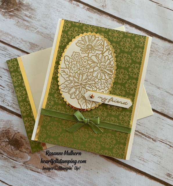 Stampin Up Ornate Garden Friendship Cards Idea - Rosanne Mulhern stampin up