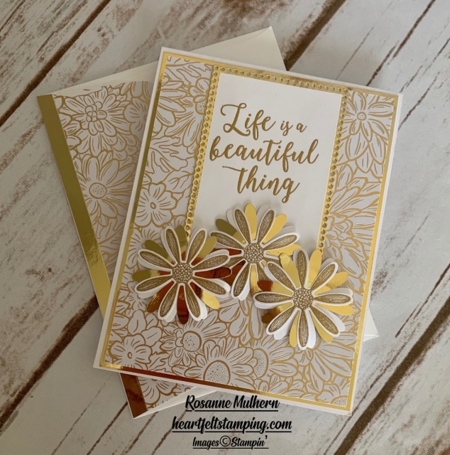 Stampin Up Ornate Garden with Colorful Seasons Card Idea - Rosanne Mulhern stampinup