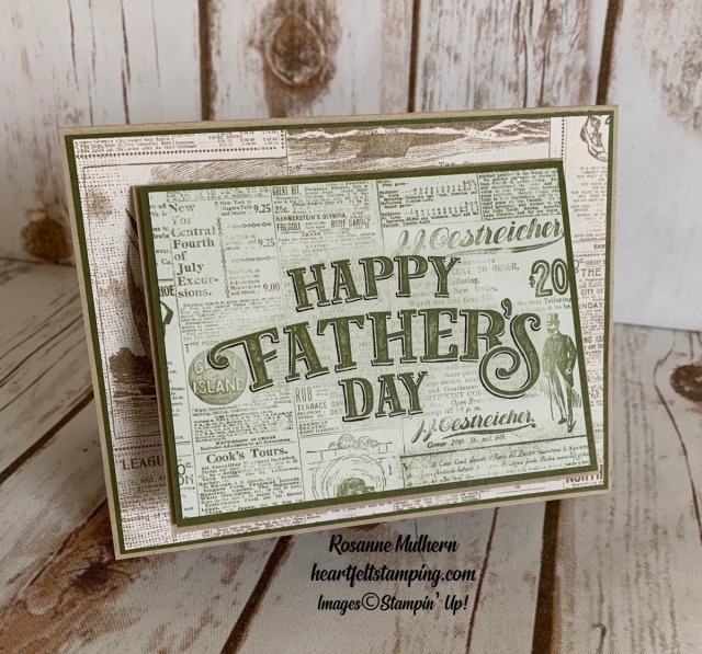 Come Sail Away Memories & More Father's Day card- Rosanne Mulhern stampinup