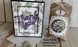 Stampin Up Botanical Prints Thank You Card Idea - Rosanne Mulhern stampinup