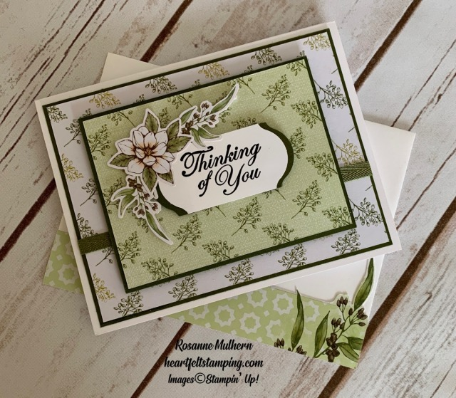 Stampin Up Magnolia Lane Memories and More Thinking of You Card Ideas - Rosanne Mulhern stampinup