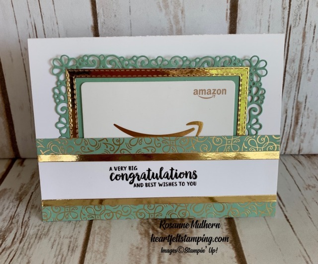 Stampin Up Ornate Garden Congratulations Card Idea -Rosanne Mulhern stampinup
