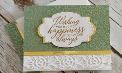 Stampin Up Ornate Garden Congratulations Card Idea - Rosanne Mulhern stampinup