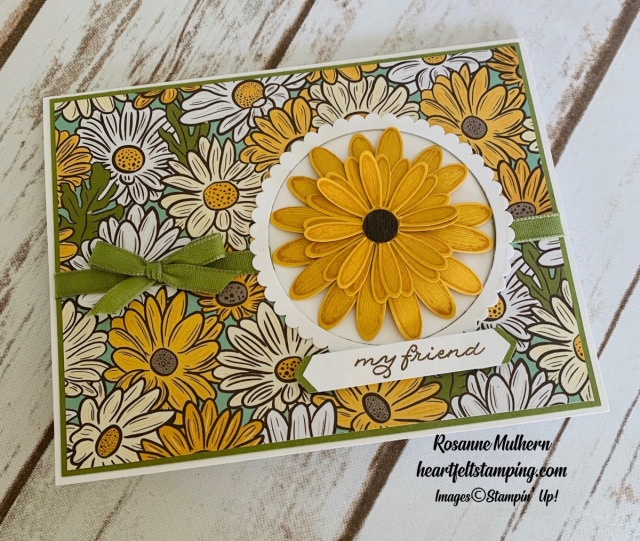 Stampin Up Ornate Garden Thank You Card Idea -Rosanne Mulhern stampinup