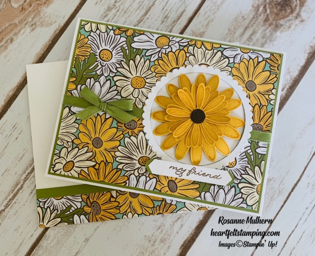Stampin Up Ornate Garden Thank You Card Idea- Rosanne Mulhern stampinup