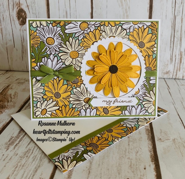 Stampin Up Ornate Garden Thank You Card Idea - Rosanne Mulhern stampinup