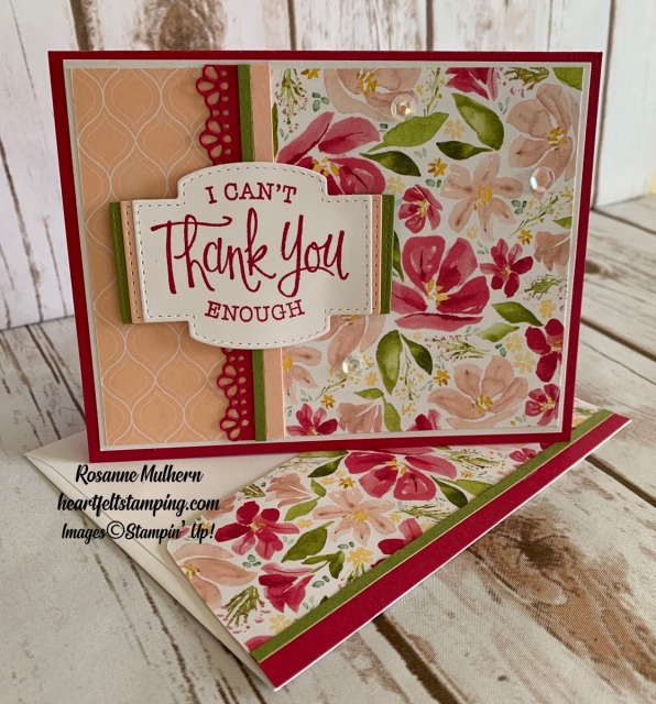 Stampin Up So Sentimental Get Well Card Idea- Rosanne Mulhern stampinup