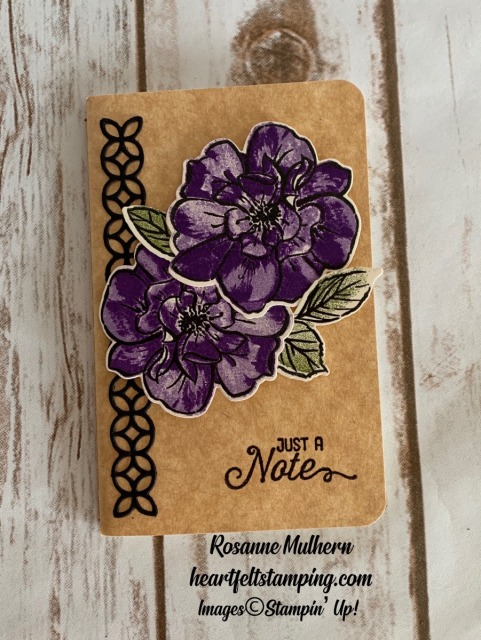 Stampin Up To A Wild Rose Notebooks- Rosanne Mulhern stampinup