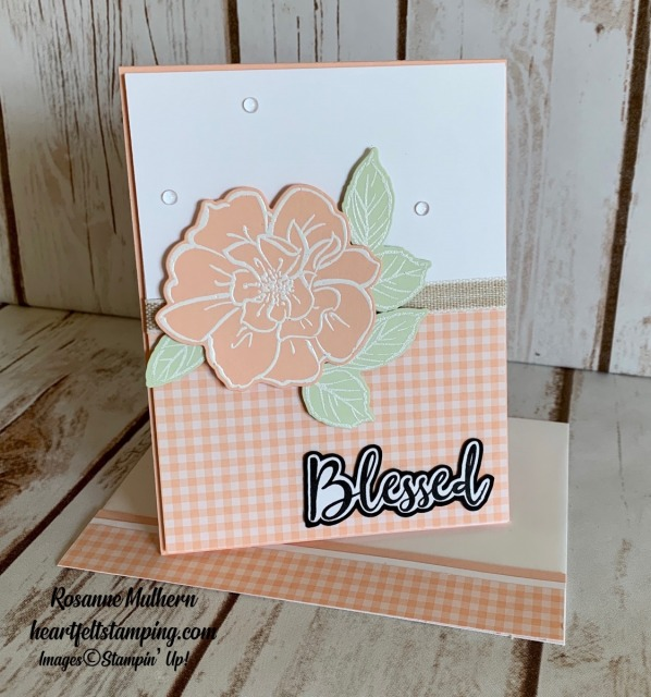 To A Wild Rose Friendship Card Idea - Rosanne Mulhern stampinup