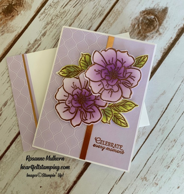 To a Wild Rose Congratulations Cards Idea -Rosanne Mulhern stampinup