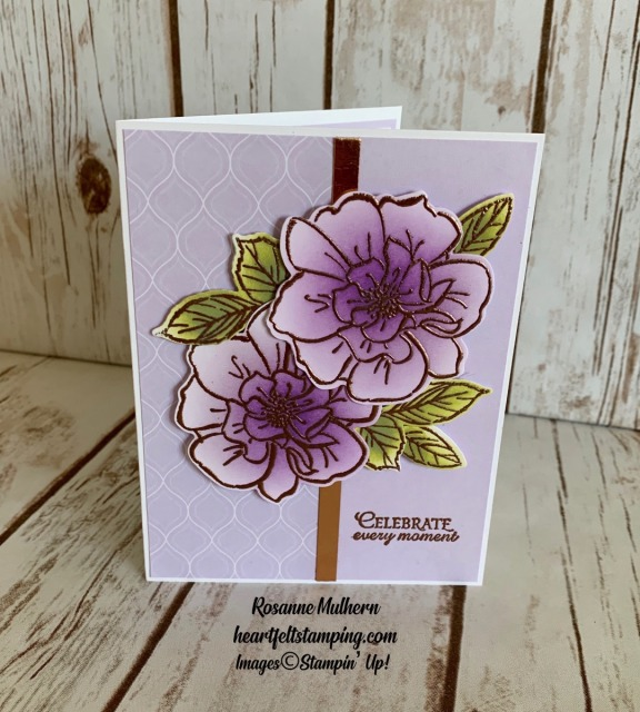To a Wild Rose Congratulations Cards Idea- Rosanne Mulhern stampinup