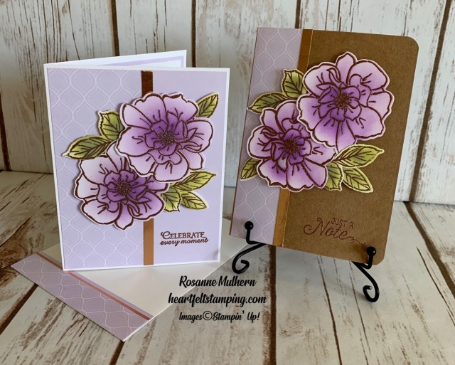 To a Wild Rose Congratulations Cards Idea-Rosanne Mulhern stampinup