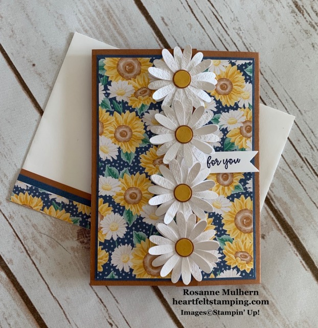 Stampin Up Flowers for Every Season Birthday Card Idea - Rosanne Mulhern stampinup