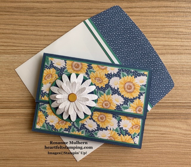 Stampin Up Flowers for Every Season Thank You Card Idea - Rosanne Mulhern stampinup