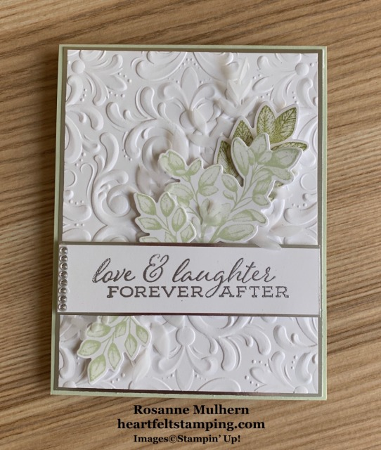 Stampin Up Forever Fern Wedding Card Idea -Rosanne Mulhern stampinup