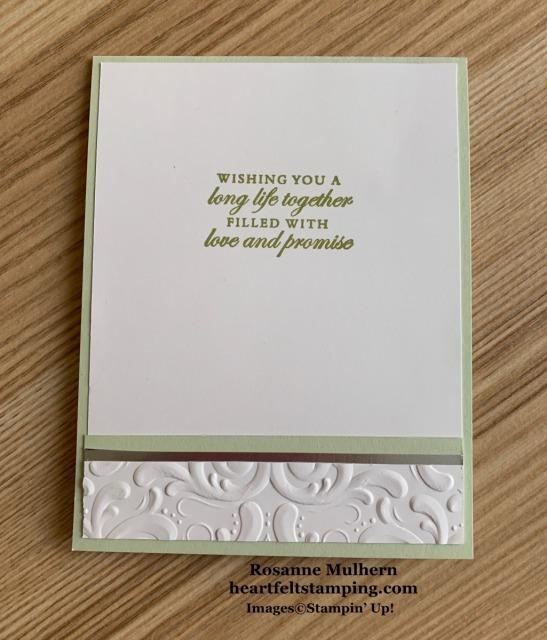Stampin Up Forever Fern Wedding Card Idea- Rosanne Mulhern stampinup