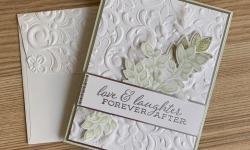 Stampin Up Forever Fern Wedding Card Idea - Rosanne Mulhern stampinup