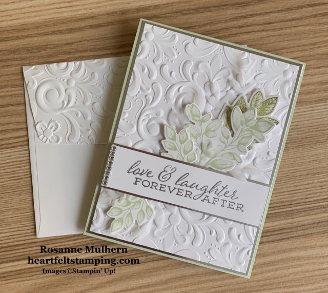 Stampin Up Forever Fern Wedding Card Idea - Rosanne Mulhern stampinup