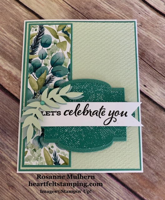 Stampin Up Forever Greenery Birthday Card Idea -Rosanne Mulhern stampinup