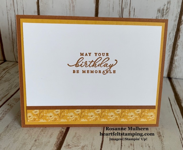 Stampin Up Tasteful Touches Birthday Card Ideas - Rosanne Mulhern stampinup