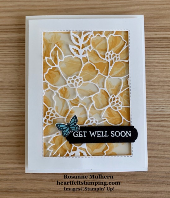 Stampin UP Blossoms in Bloom Get Well Card -Rosanne Mulhern stampinup