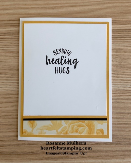 Stampin UP Blossoms in Bloom Get Well Card- Rosanne Mulhern stampinup