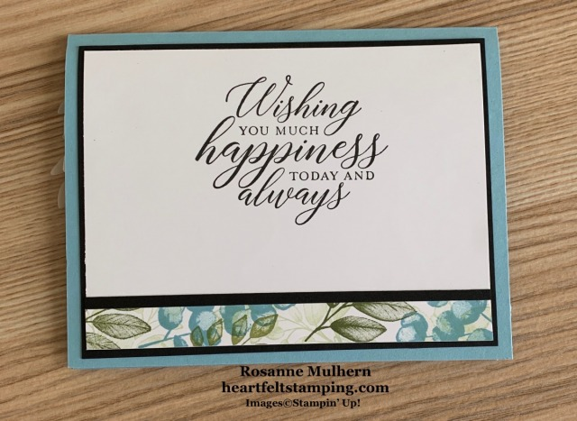 Stampin Up Forever Ferns Anniversary Card-Rosanne Mulhern stampinup